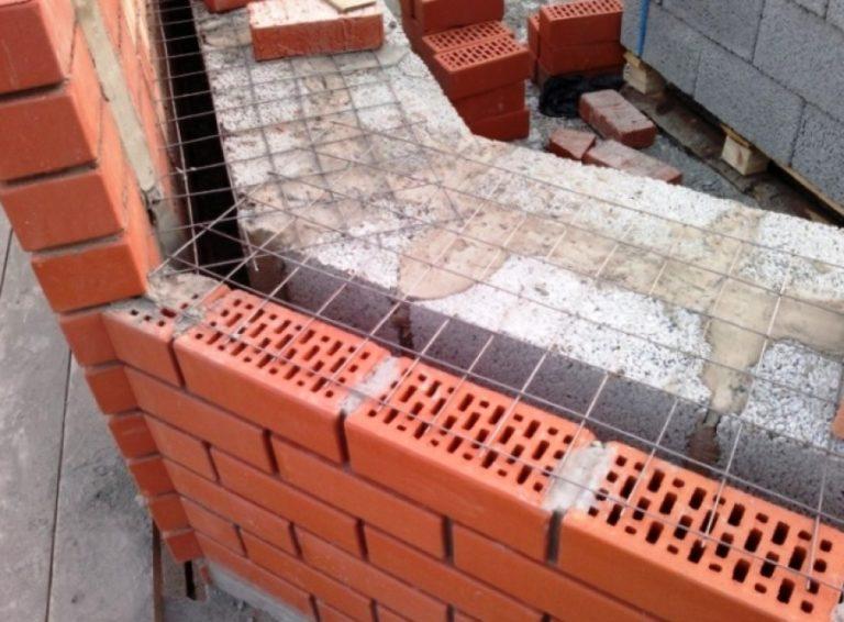армирование кирпичной кладки строительной сеткой