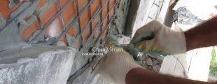 строительная сетка обеспечивает надёжное крепление плитки или натурального камня